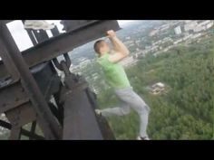 Russians working out on a 500 meter high tower.      Look that's all very impressive, but seriously GET DOWN FROM THERE YOU A$$HOLES! : )