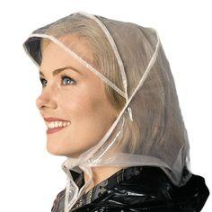 Buy the Totes Raindrops Rain Hood at Robert Dyas online. Rain Bonnet, Plastic Mac, Rain Hat, Rain Drops, My Style, Lady, Vintage, Nostalgia, Cosplay Costumes