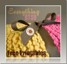 Handmade Label Printables {Free Downloads} - EverythingEtsy.com