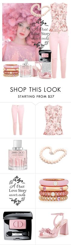"""Le printemps"" by angel1122332 ❤ liked on Polyvore featuring Ashish, Current/Elliott, STELLA McCARTNEY, Jimmy Choo, Hiho Silver, WALL, Adolfo Courrier, Christian Dior and Sophia Webster"