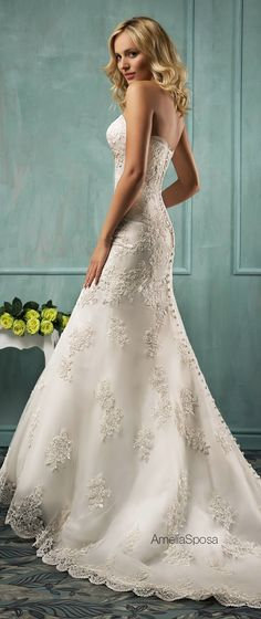 Amelia Sposa 2014 Wedding Dresses  | bellethemagazine.com