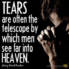 """Tears are often the telescope by which men see far into heaven. Here are 3 Things About Your Tears based on this popular quote! Christian Messages, Christian Quotes, Best Bible Verses, Tears Of Joy, Top Quotes, Daily Devotional, Faith In God, Thought Provoking, Cool Words"
