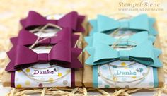 Elementstanze Schleife, Stampin Up Frühjahrs- Sommerkatalog, Stampin Up Sale a bration, Schokoladenverpackung basteln, Gastgeschenke Stempelparty, Stampin Up bestellen