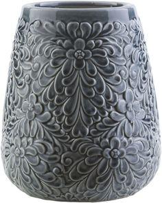 Surya Navy Underwood Ceramic Table Vase [UNW348-M]