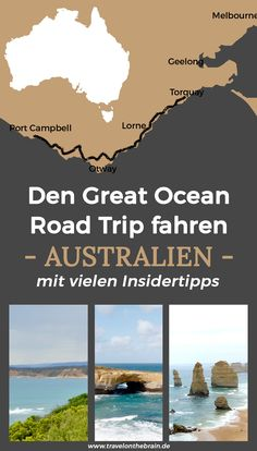 Travel Destinations Australia: Great Ocean Road Trip Insider Tipps - Women's World Coast Australia, Australia Travel, Western Australia, Australia Winter, Great Barrier Reef, Family Road Trips, Family Travel, Europe Travel Tips, Travel Destinations