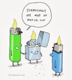""" We met on Match.com"" Funny Technology - Puns - Community - Google+#puns"