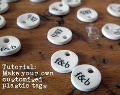 hacer etiquetas personalizadas de plástico
