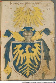 Ortenburger Wappenbuch Bayern, 1466 - 1473 Cod.icon. 308 u  Folio 70r