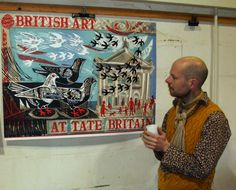 Designer Mark Hearld views his exclusive print for Tate Shop http://shop.tate.org.uk/limited-edition-prints/mark-hearld-limited-edition-print/invt/10950/=icat,4,shop,prints,limitededitionprints