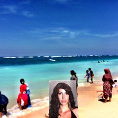 An awesome Virtual Reality pic! Glória #BornNowhere in #PantaiPandawa #Bali  #wonderfulphoto #paradise #SocialMediaArt #interactiveart #participatoryart #selfie #beaches #asia #character #summer #fun #virtualreality by bornnowhere check us out: http://bit.ly/1KyLetq
