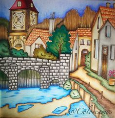 #coloringbook #coloring #colorbookforadults #RomanticCountry #rc1 #eriy #polychromos #fabercastell