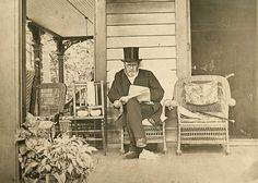 Ulysses S. Grant working on his memoirs in 1885. He would die four days later.