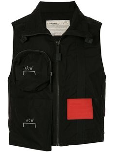 Black zipped pocket gilet from A-COLD-WALL* featuring a spread collar, a sleeveless design, a front zip fastening and a short length. Embroidered Polo Shirts, Printed Polo Shirts, Branded T Shirts, Printed Shorts, Valentino Camouflage, Adidas Stan Smith Sneakers, A Cold Wall, Straight Trousers, American Eagle Shirts