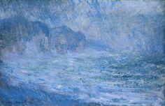 Claude Monet - Cliffs at Pourville, Rain  1896