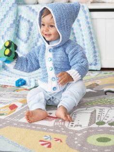 Button Up In Blue | Yarn | Free Knitting Patterns | Crochet Patterns | Yarnspirations