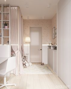 Contemporary Neutral Homes That Don't Need Bold Color To Wow (Interior Design Ideas) Cute Bedroom Ideas, Girl Bedroom Designs, Room Ideas Bedroom, Bedroom Decor, Futuristisches Design, Interior Design, Minimalist Dining Room, New Room, Girl Room