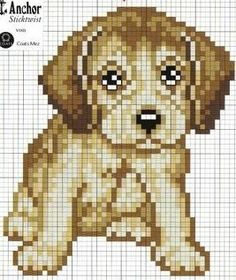 Hund - Dog hama perler beads pattern