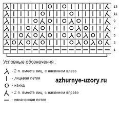 Волнистый узор схема 140