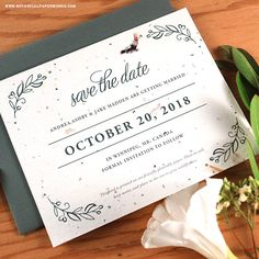 Check out these plantable wedding invitations that are as special as your big day will be! | #weddinginvitations #fallwedding #ecofriendly
