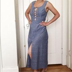 Reformation Blue Dress