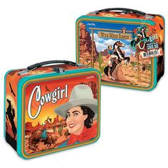 Cowgirl Metal Lunch Box by Accoutrements
