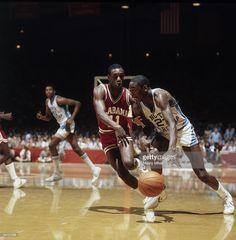 North Carolina Michael Jordan (23) in action vs Alabama. Raleigh, NC 3/18/1982