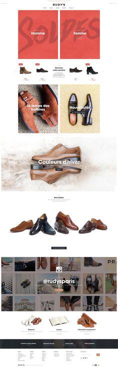 Rudy's Paris online shop for inspiration #webdesign #inspiration #ecommerce
