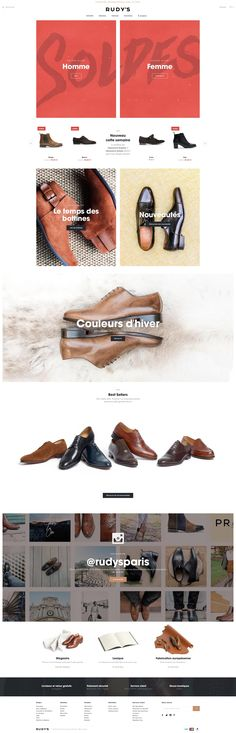 Rudy's Paris online shop for inspiration #webdesign #inspiration #ecommerce