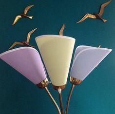 ❤️für 50er Jahre Tütenlampe neue pastell Lampenschirme 50s, 10€