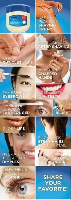amazing beauty uses for vaseline-beauty. - Find The Top Beauty and Cosmetics Stores Online via http://AmericasMall.com/categories/beauty-cosmetics.html Pin Now, Use Later
