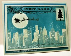 Christmas in the City Stampin' Up! Card created by Michelle Zindorf