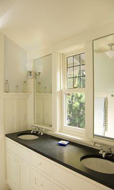Bathroom Vanity In Front Of Window vanity mirror separatedthe window in the front of the house