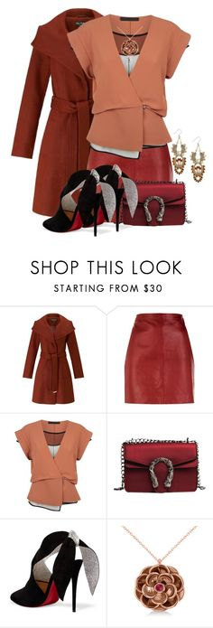 """Untitled #3009"" by jodilambdin ❤ liked on Polyvore featuring Miss Selfridge, Sandro, Alexander Wang, Christian Louboutin, Allurez and Lucky Brand"