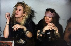 Guns N Roses, axl rose, and duff mckagan image