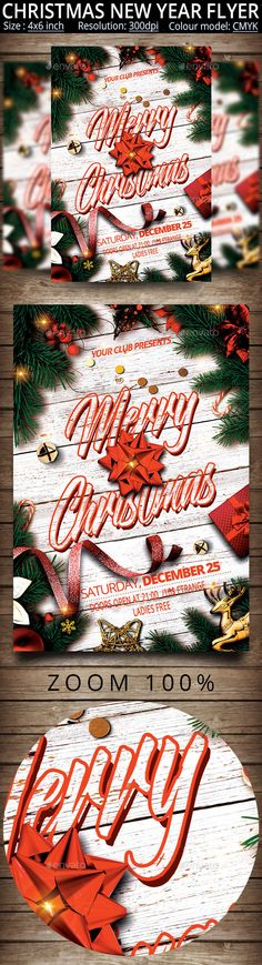 #Christmas #New Year #Party Flyer - Events Flyers