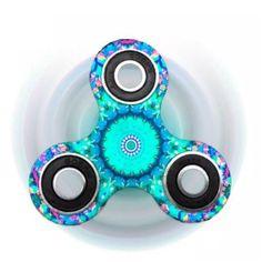 Spinner Turbo Hand Finger Fidget Metallic Leuchtet Glow in the Dark Spielzeug Spiele