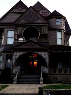 Beautiful All-Black Gothic House