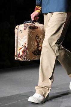 See detail photos for Prada Spring 2014 Menswear collection.