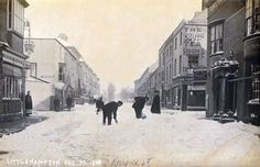 Norfolk Road Littlehampton West Sussex England in Snow on 30 December 1908