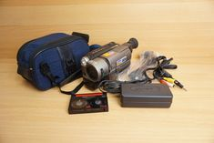 Sony Handycam Vision camcorder With case +leads+one used tape Camera Photography, Camcorder, Sony, Tape, Led, Video Camera, Duct Tape, Movie Camera, Ribbon