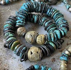 Crystal Jewelry, Beaded Jewelry, Handmade Jewelry, Beaded Bracelets, Diy Jewellery, Turquoise Beads, Turquoise Stone, Decorative Beads, African Beads