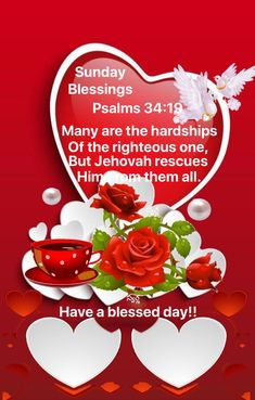 Psalm 34 19, Happy Faces, Have A Blessed Day, Jehovah, Psalms, Good Morning, Messages, Buen Dia, Bonjour