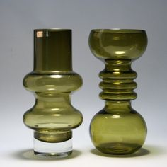 Tamara Aladin for Riihimäen Lasi, Finland. Sandblasted Glass, Mid Century Decor, Vases, Retro Art, Carnival Glass, Glass House, Glass Design, Colored Glass, Scandinavian Design