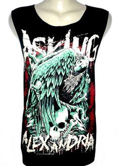 Asking Alexandria fashion rock band tank top vest t-shirt sleeveless tee Size M