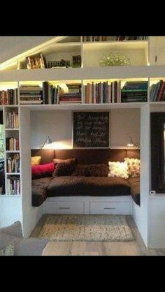 Reading nook and mini library