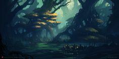 Tree Dwellers, Andreas Rocha on ArtStation at https://www.artstation.com/artwork/A4e2z