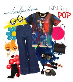 """""""king of pop; michael jackson"""" by arborkirmizisi ❤ liked on Polyvore featuring STELLA McCARTNEY, Gianvito Rossi, Judith Leiber, ZeroUV, Anastasia Beverly Hills, Beauty Is Life, MAC Cosmetics and Christian Dior"""