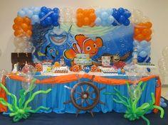 Boy First Birthday, Birthday Party Decorations, First Birthday Parties, Shower Bebe, Baby Shower, Finding Nemo, Clownfish, Toddler Boy Birthday, Birthday Party Boys