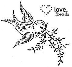 bird motif by floresita's transfers, via Flickr