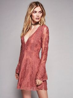 Megan Williams    FP Collection Reign Over Me Lace Dress (Pink Nectar)